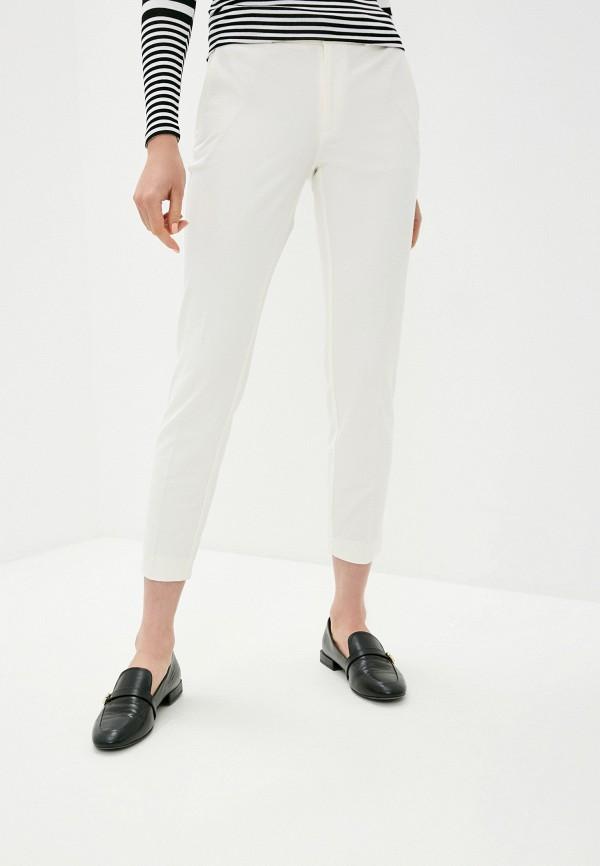 женские классические брюки polo ralph lauren, белые