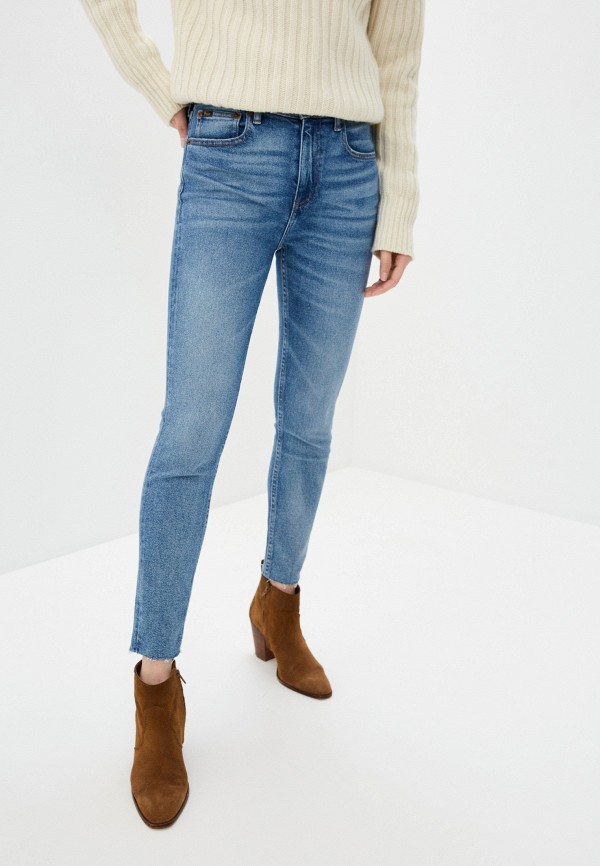 женские джинсы скинни polo ralph lauren, голубые