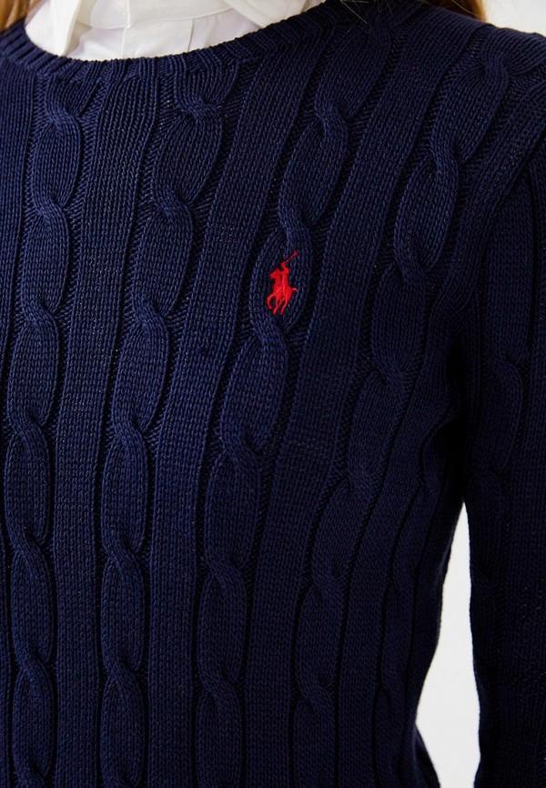Фото 4 - женский джемпер Polo Ralph Lauren синего цвета