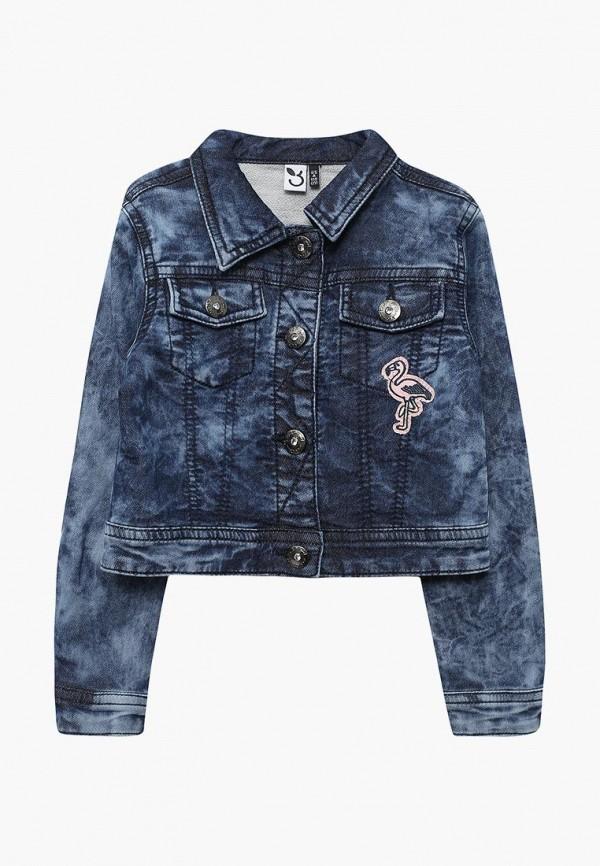 Куртка джинсовая 3 Pommes PO013EGZRT37. Цвет: синий