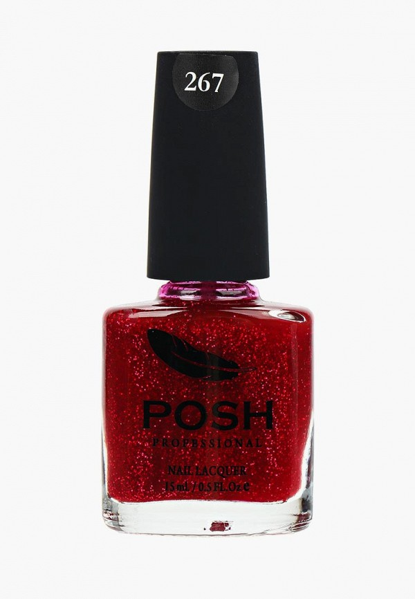 лак для ногтей posh, бордовый