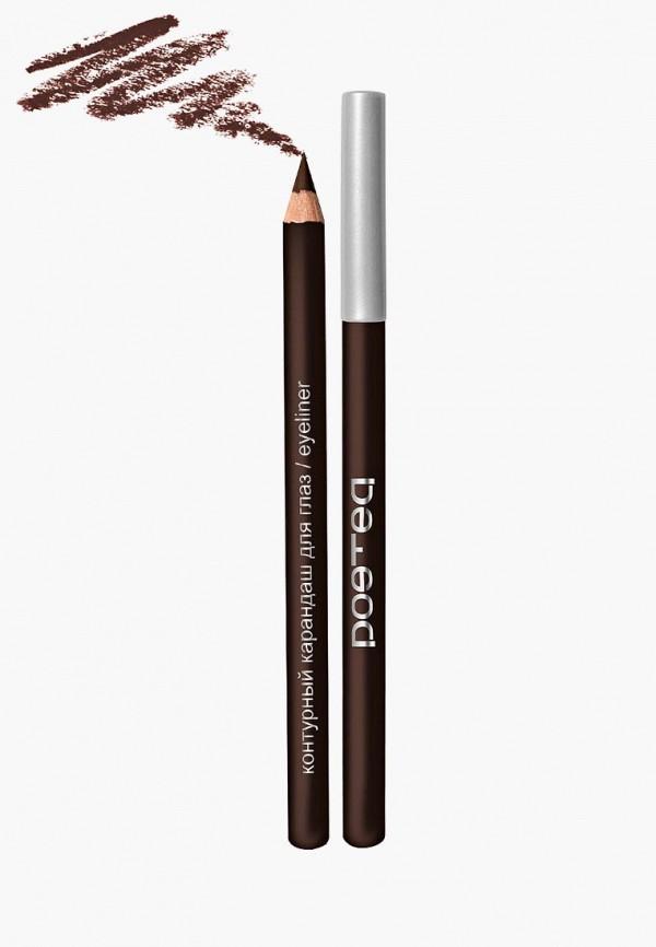 карандаш для глаз poeteq, коричневый