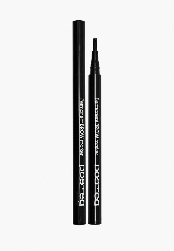 карандаш для бровей poeteq, коричневый