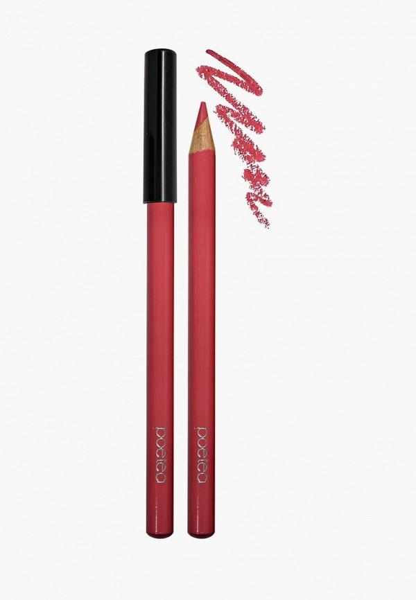 карандаш для губ poeteq, красный