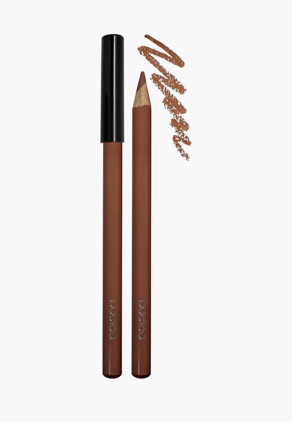 карандаш для губ poeteq, коричневый