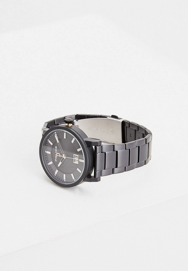 Фото 3 - Мужские часы Police черного цвета