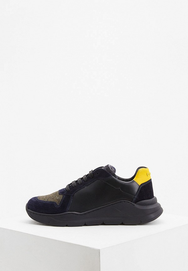 мужские низкие кроссовки pollini, черные