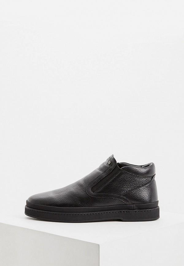 мужские высокие ботинки pollini, черные