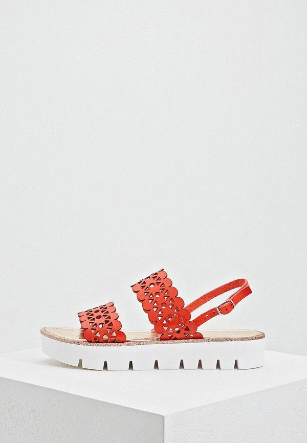женские сандалии pollini, красные