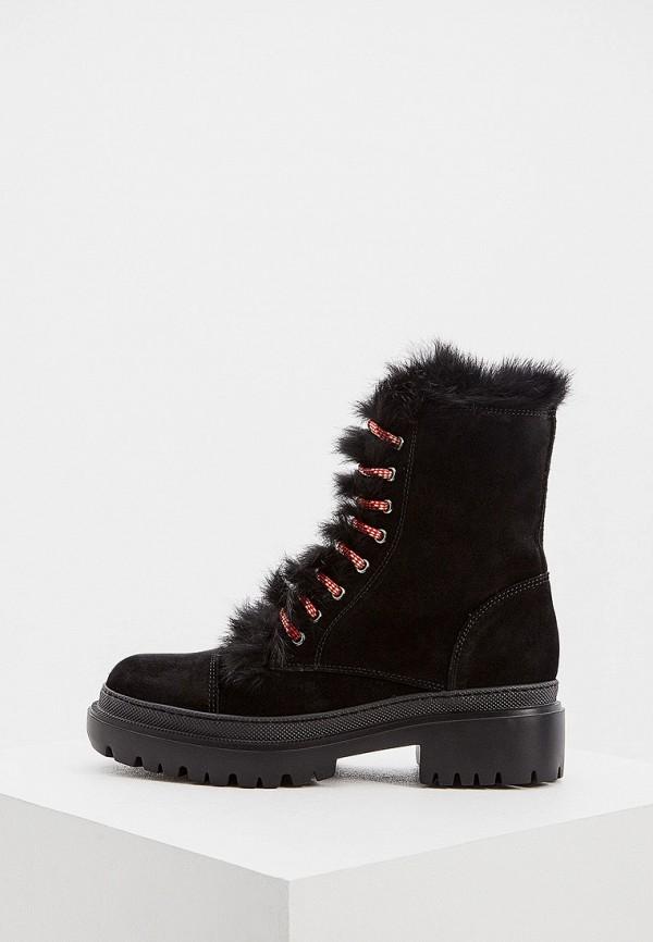 женские высокие ботинки pollini, черные
