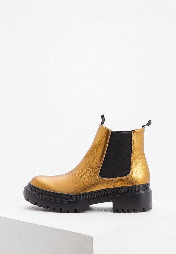 женские ботинки pollini, золотые