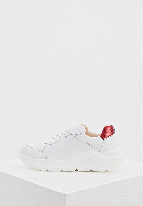 женские низкие кроссовки pollini, белые