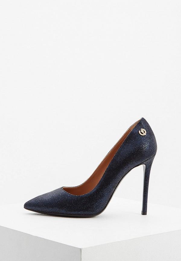 женские туфли-лодочки pollini, синие