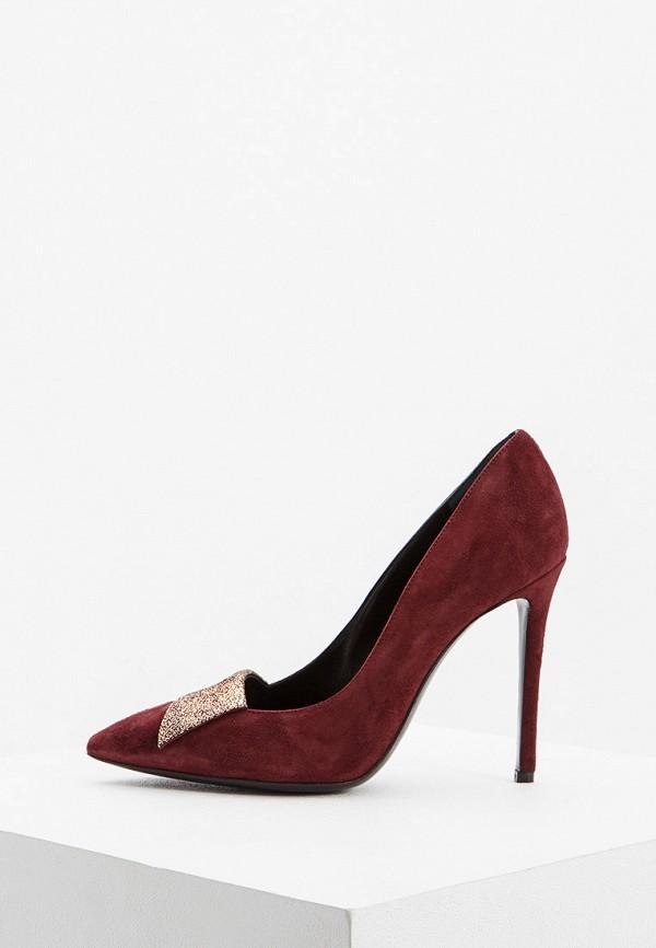 женские туфли pollini, бордовые
