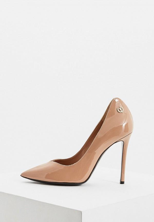 женские туфли-лодочки pollini, бежевые