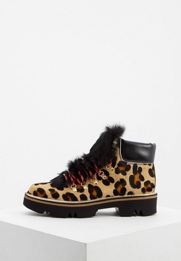 женские ботинки pollini, бежевые