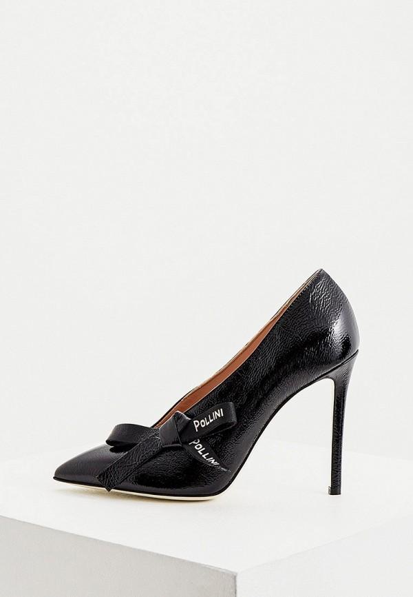 женские туфли-лодочки pollini, черные