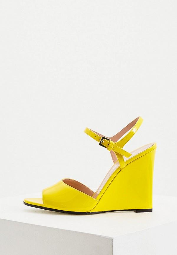 женские босоножки pollini, желтые