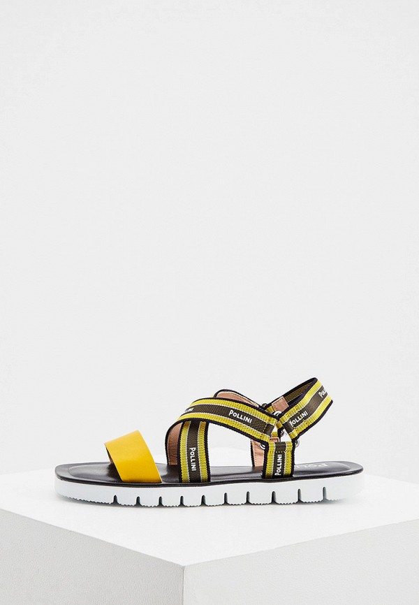 женские сандалии pollini, желтые