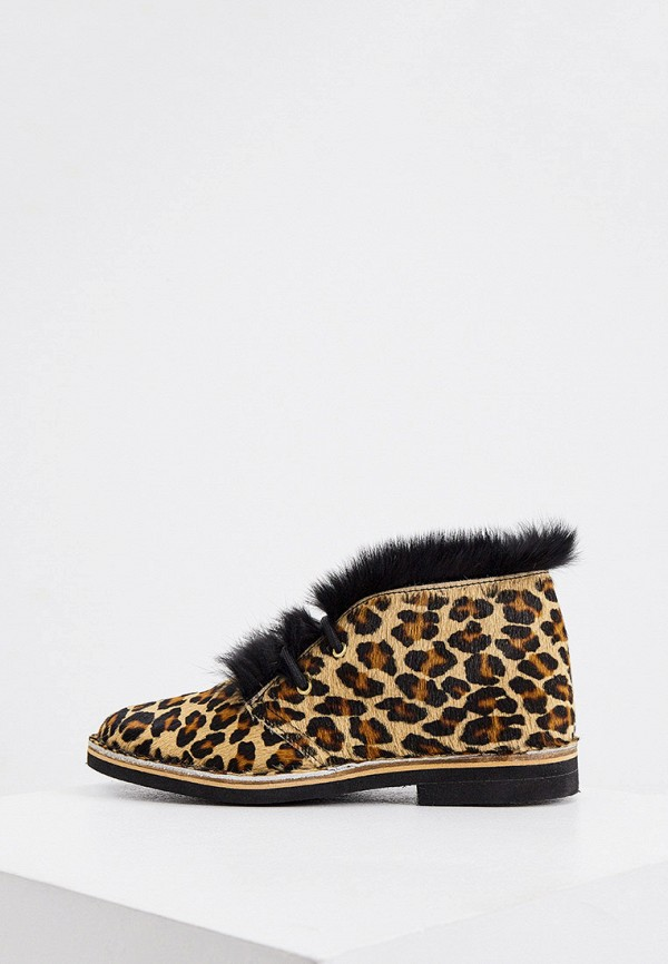 женские ботинки pollini, коричневые