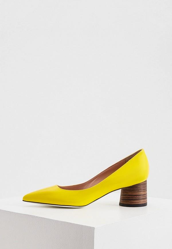 женские туфли с закрытым носом pollini, желтые
