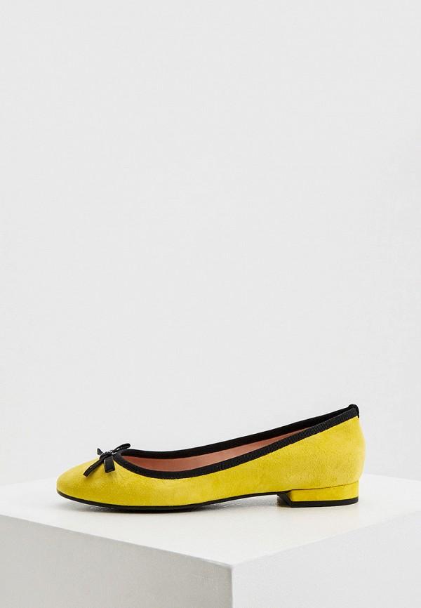 женские балетки pollini, желтые