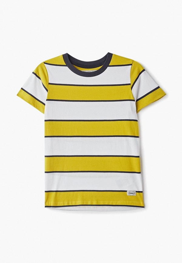 футболка с коротким рукавом produkt для мальчика, желтая