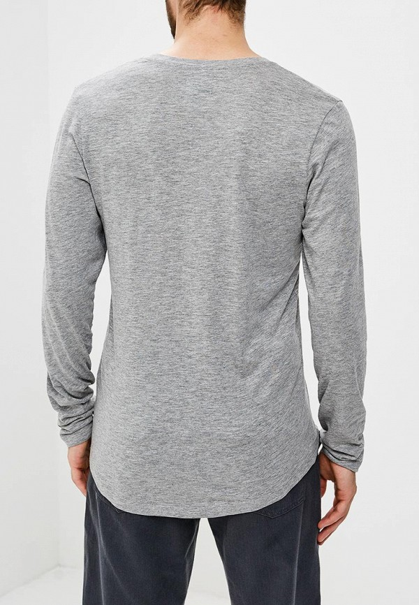 Фото 3 - Лонгслив Produkt серого цвета