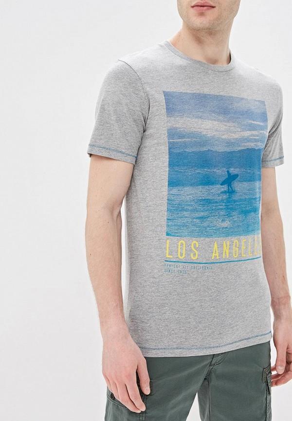 Фото - мужскую футболку Produkt серого цвета