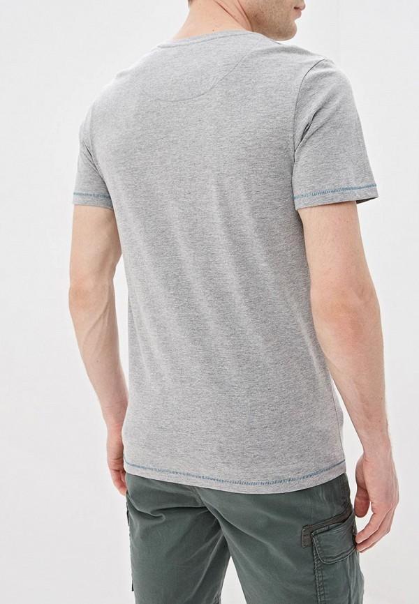 Фото 3 - мужскую футболку Produkt серого цвета