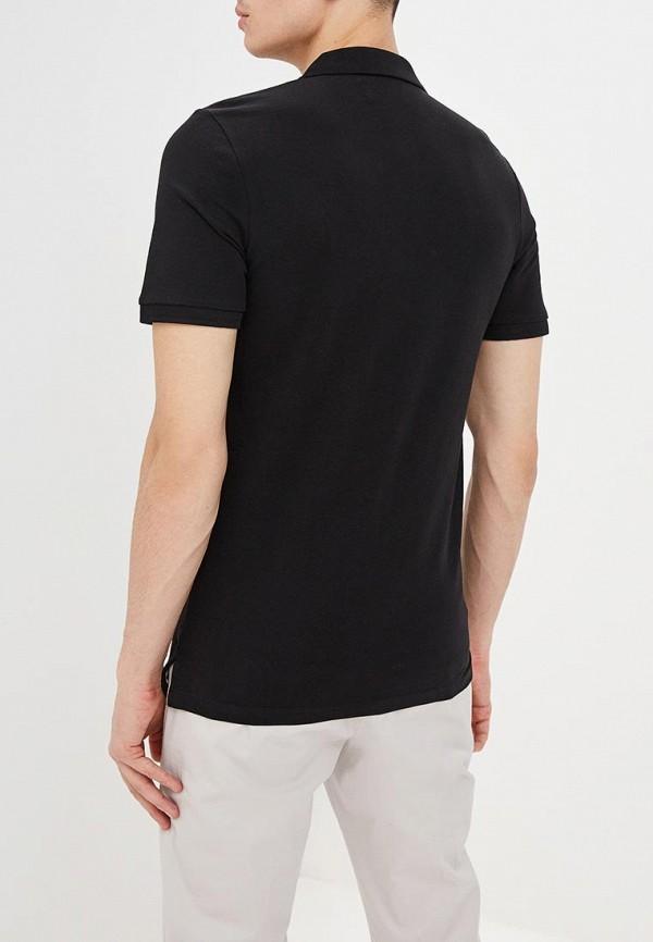 Фото 3 - мужское поло Produkt черного цвета