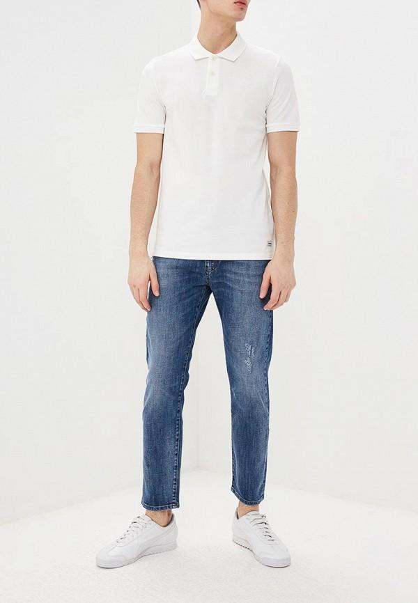 Фото 2 - мужское поло Produkt белого цвета