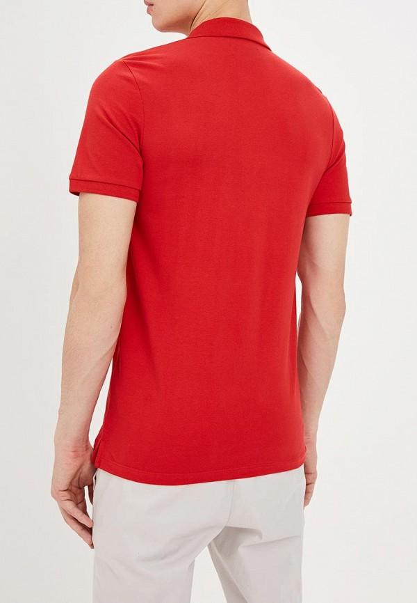 Фото 3 - мужское поло Produkt красного цвета