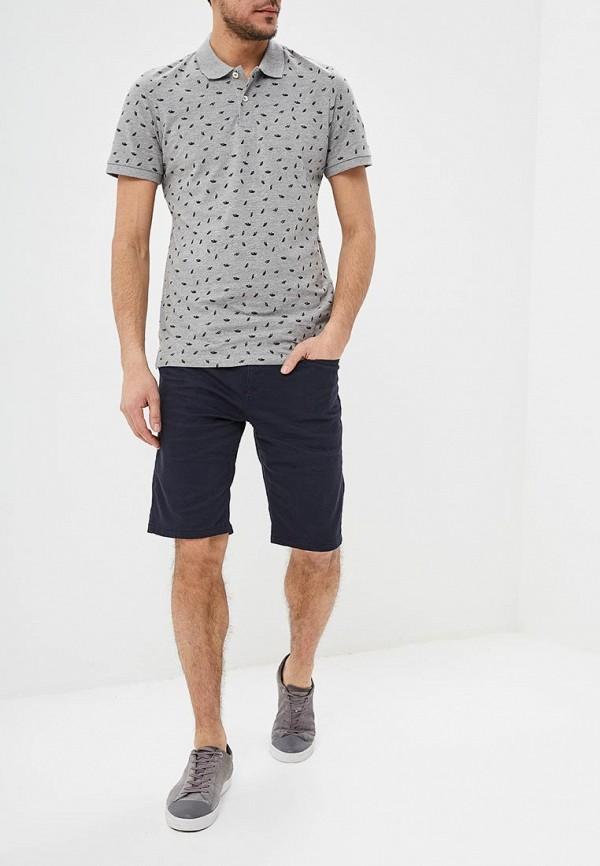 Фото 2 - мужское поло Produkt серого цвета