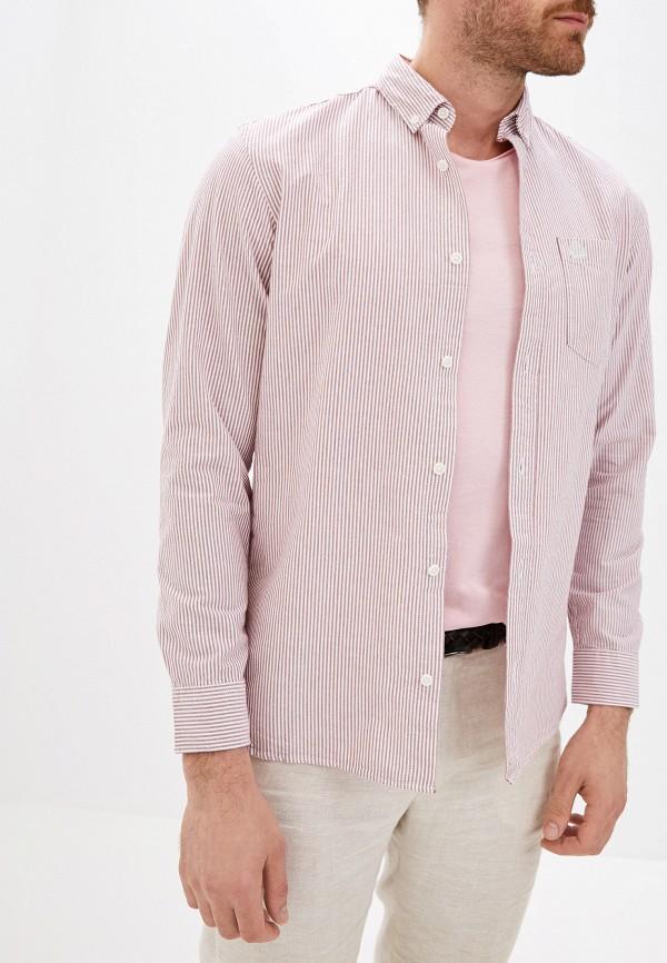 мужская рубашка с длинным рукавом produkt, красная
