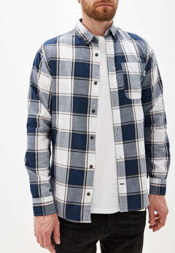 мужская рубашка с длинным рукавом produkt, синяя