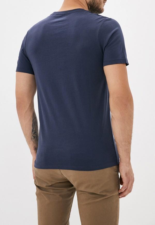 Фото 3 - мужскую футболку Produkt синего цвета