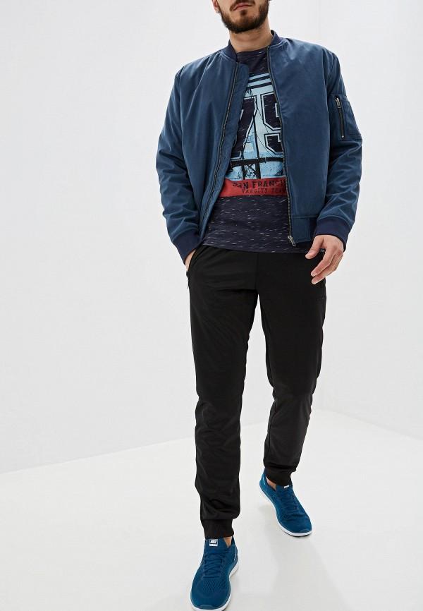 Фото 2 - мужскую футболку Produkt серого цвета