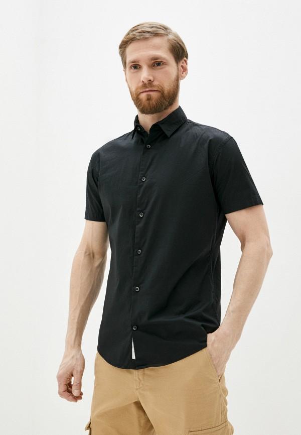 мужская рубашка с коротким рукавом produkt, черная