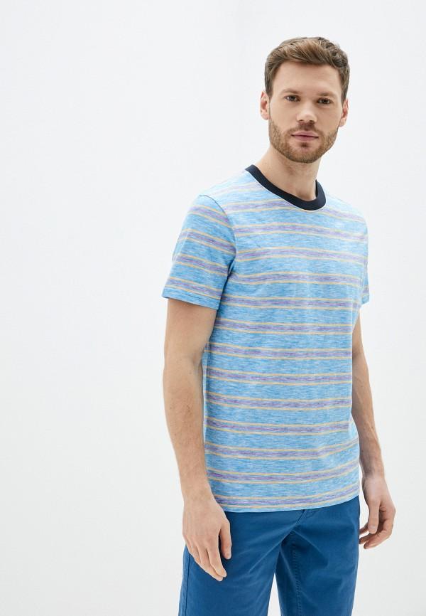 мужская футболка с коротким рукавом produkt, голубая