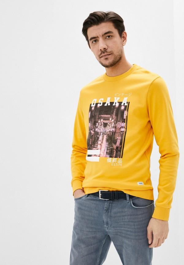 мужской свитшот produkt, желтый