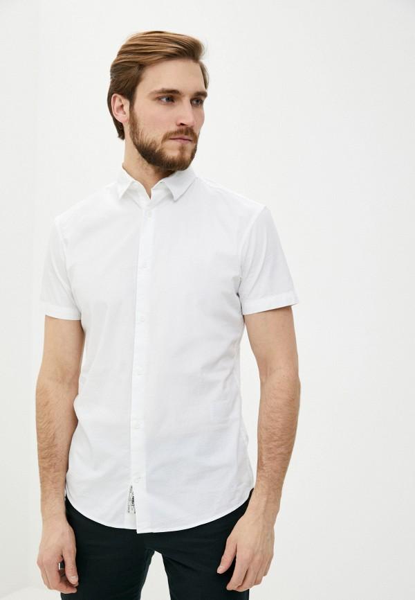 мужская рубашка с коротким рукавом produkt, белая