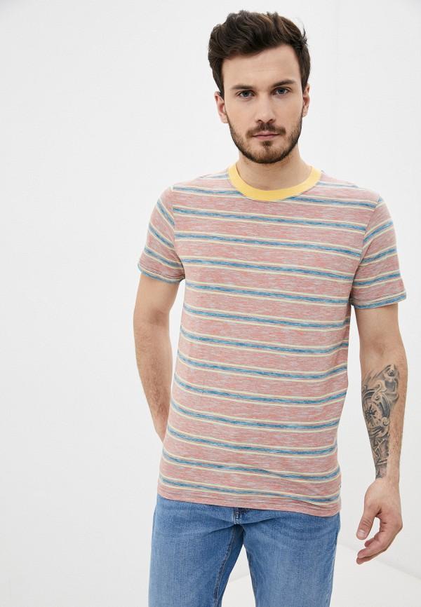 мужская футболка с коротким рукавом produkt, розовая
