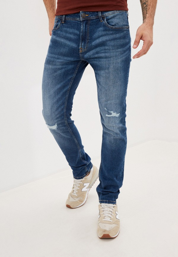 мужские прямые джинсы produkt, синие