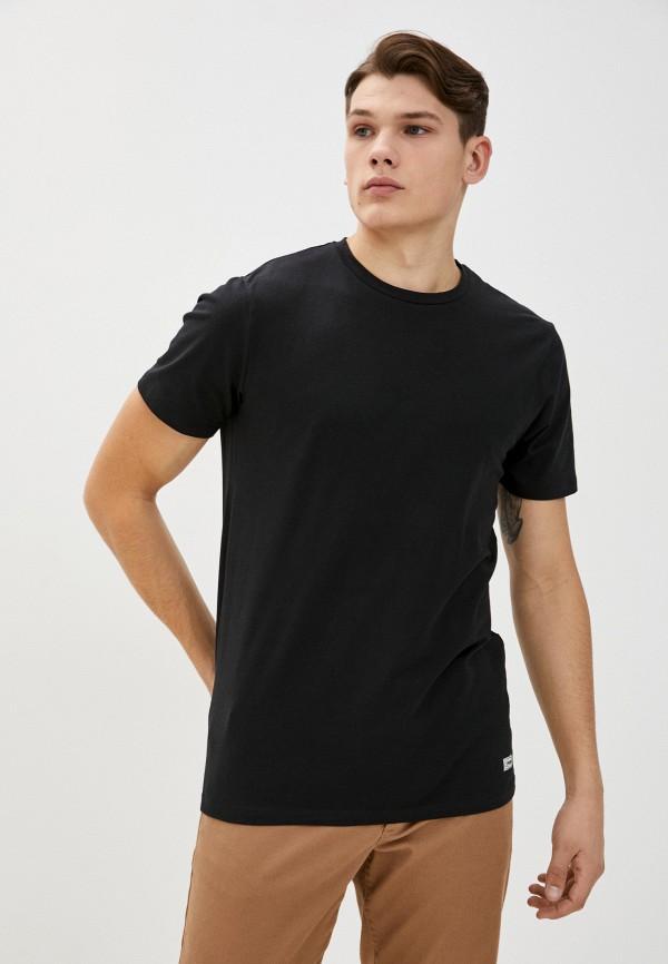 мужская футболка с коротким рукавом produkt, черная