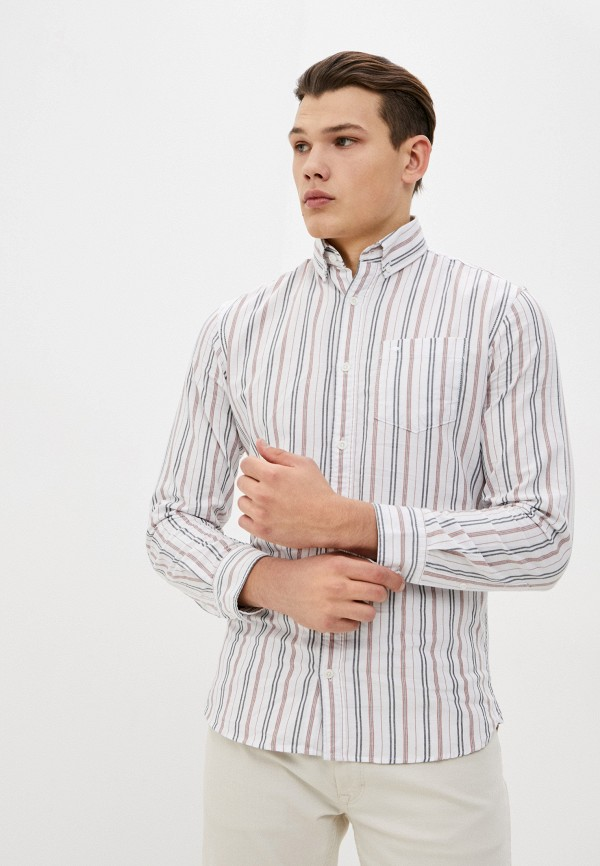 мужская рубашка с длинным рукавом produkt, белая