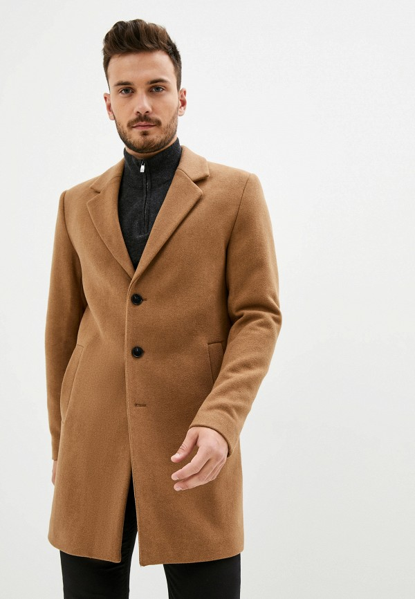 мужское пальто produkt, коричневое