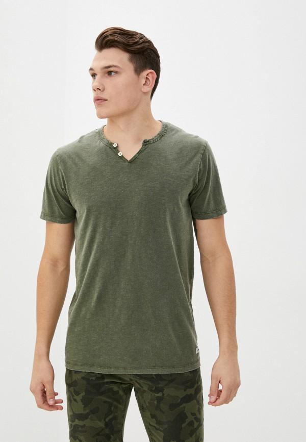 мужская футболка с коротким рукавом produkt, зеленая