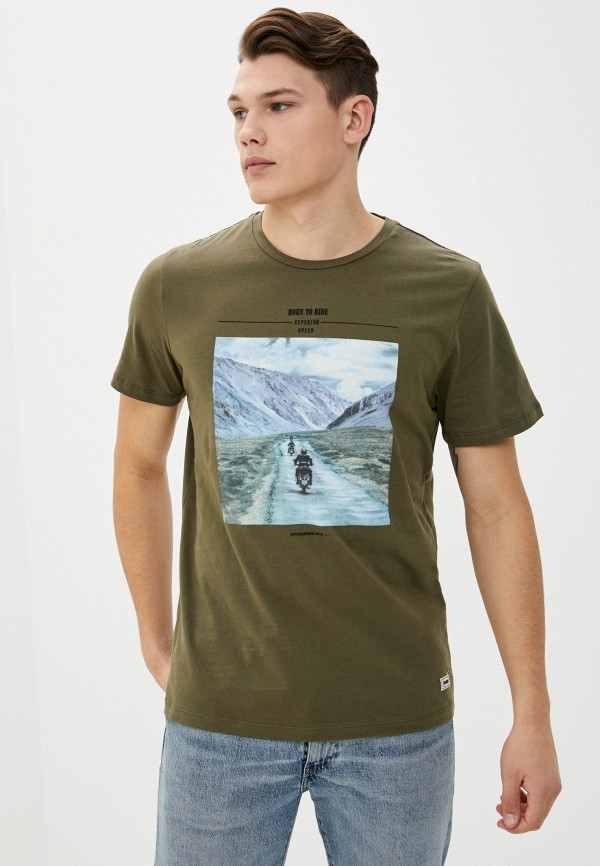 мужская футболка с коротким рукавом produkt, хаки