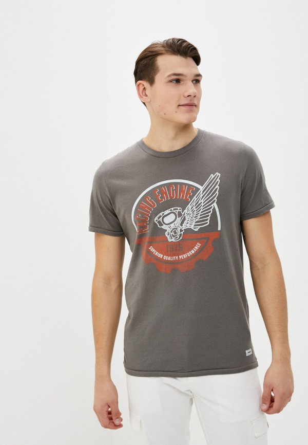 мужская футболка с коротким рукавом produkt, серая